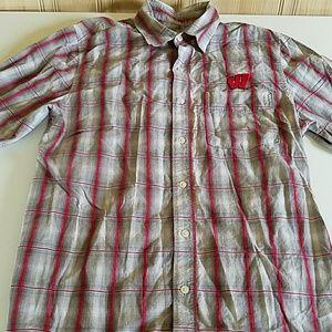 Antigua Button Wisconsin Badgers Shirt